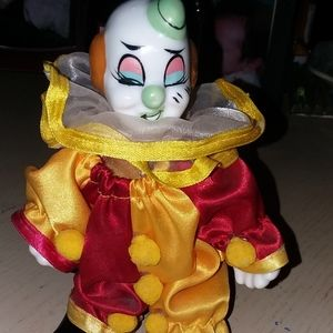 Vintage porcelain clown